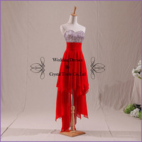2014 RED Short Prom dress Simple Cheapest Sweetheart /chiffon/short prom/Evening/Party/Homecoming/cocktail /Bridesmaid/Formal Dress