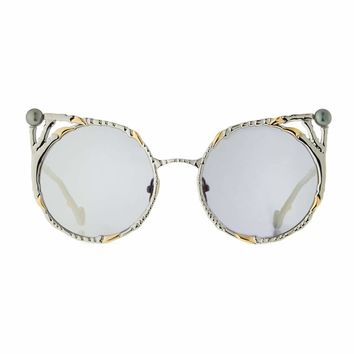 Anna-Karin Karlsson The Claw and the Pearl Peaked Rounded Sunglasses