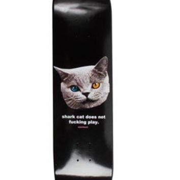 "SHARK CAT SKATEBOARD BLACK 8"" by OFWGKTA 