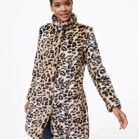 Leopard Faux Fur Coat | LOFT