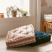 Ruthie Velvet Floor Cushion - Urban Outfitters