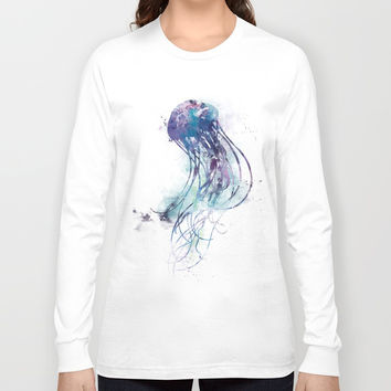 Jellyfish Long Sleeve T-shirt by monnprint