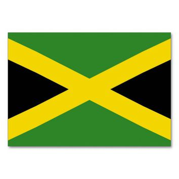 Patriotic table card with Flag of Jamaica