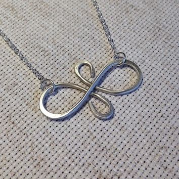 Best Friends Infinity Necklace - Eternal Friendship Symbol Charm by Charmed Elements Jewelry