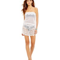 Gianni Bini Crochet Strapless Romper Cover-Up | Dillards