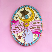 Babe With The Power ♥ Large Enamel Pin from SUGARBONES