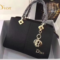 Dior Trending Women Shopping Black Leather Tote Handbag Shoulder Bag Crossbody I