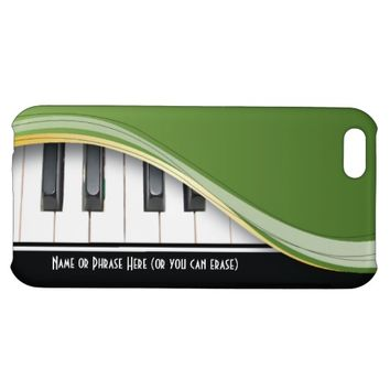 Customizable Green Classy Piano Phone Case