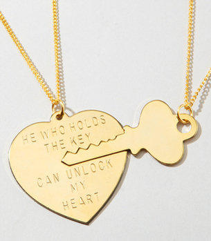 Key to My Heart Necklace Set