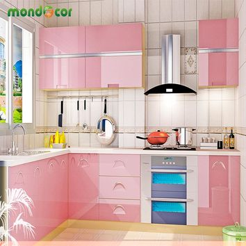 Glossy Pearl Vinyl PVC Waterproof Self adhesive Wallpaper Kitchen Cabinet Wardrobe Cupboard Furniture Home Decor Wall Stickers