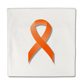 "Leukemia Awareness Ribbon - Orange Micro Fleece 14""x14"" Pillow Sham"