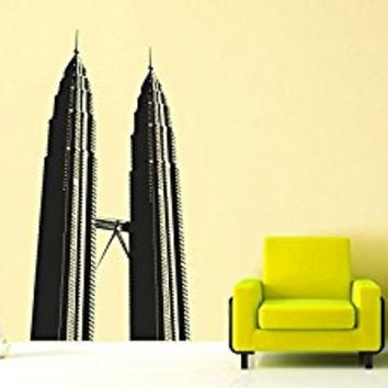 Wall Decal Vinyl Sticker Decals Art Decor Design New York NY twin towers Brookln City Town Capital Buildings Dorm Bedroom Office (r1083)