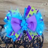 Monsters Inc Sulley Hair Bow