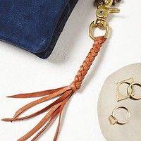 Marisa Mason Womens Leather Braided Keychain