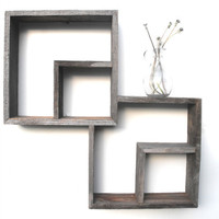 Barnwood Shadow Box Shelf by mosswoodshop on Etsy