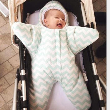 Newborn Baby Fashion Starfish Outfit Sleeping Bunting Bag Christmas Clothes [9619227919]
