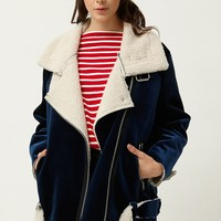 Uella Velvet Aviator Jacket Discover the latest fashion trends online at storets.com