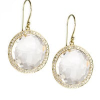 Ippolita Gold Rock Candy Lollipop Diamond Mother-of-Pearl Earrings