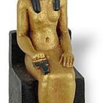 Isis Egyptian Mother Goddess Seated - Miniature Statue - E-320GP