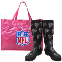 Atlanta Falcons Ladies Black Enthusiast Boots