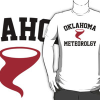 Cool 'Oklahoma Meteorology' Tornado Icon T-Shirts and Accessories