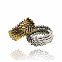 Punk Metallic Feather Bracelet
