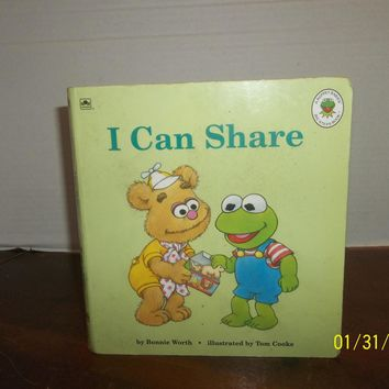vintage 1993 jim henson muppet babies i can share board book