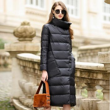 Duck Down Jacket Women Winter Outerwear Coats Female Long Casual Light ultra thin Warm Down puffer jacket Parka branded
