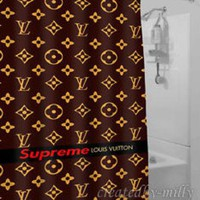 Supreme Brown Luxury Popular Hot Design High Quality Shower Curtain 60 x 72 Inch