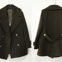 Fall Winter Cashmere coat Double Breasted Wool Coat