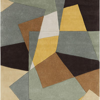 Cosmopolitan Collection Area Rug in Dried Oregano, Bay Leaf, and Quince Yellow design by Surya