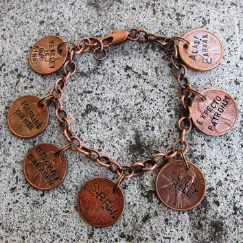 Hand Stamped Harry Potter Penny Charm by DesignByAnyOtherName