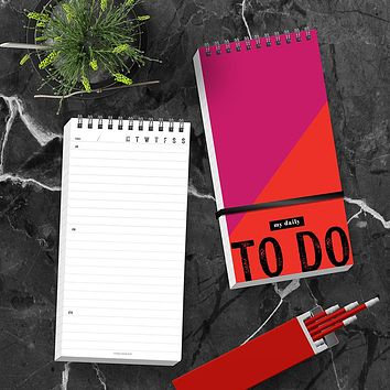 Bold To Do Daily Agenda Planner - BOLD MOVES COLLECTION