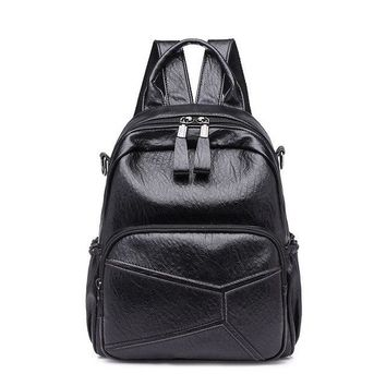 University College Backpack AIRE Fashion Women s Vintage PU Leather SchoolBags Female Shoulder bags for Teenage Girls  Travel Back PackAT_63_4