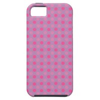 Bellflower Violet And Pink Polka Dots Pattern iPhone 5 Covers from Zazzle.com