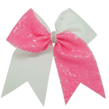 "Girls 6.5"" Sequin Cheer and Dance Hair Bows"