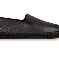 Indie Designs Bottega Veneta Inspired Intrecciato Leather Espadrilles