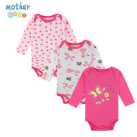 Mother Nest 3PCS New BABY BODYSUITS Next Infant Long Sleeve Clothing Jumpsuit Printed Brand Baby Boy Girl Bodysuits