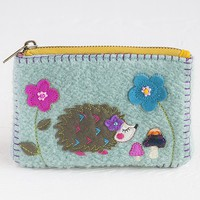 Light  Blue  Hedgehog  Sweater  Coin  Purse    From  Natural  Life