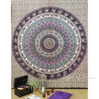 Mandala Elephant Tapestry Wall Hanging Bedspread - Queen/Double