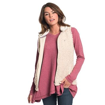 Sherpa Vest in Oyster Gray by The Southern Shirt Co. - FINAL SALE