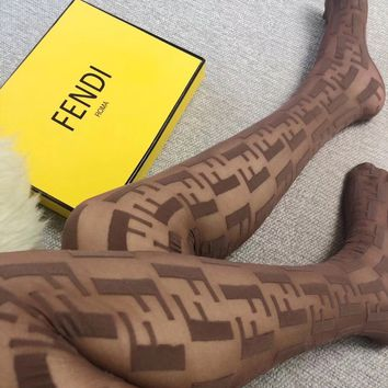 Sexy FENDI FF Pantyhose with GIFT BOX