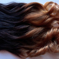 Ombre Clip Fade Clip in Human Hair Extensions by damnationhair