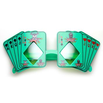 Poker Party Royal Flush Joker Diamond Vegas Casino Novelty Sunglasses