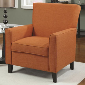 Accent Seating Orange Accent Chair with Contemporary Furniture Style