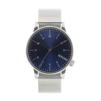 Komono - Winston Royale Silver Blue Watch