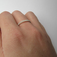 SALE 2 FOR 12: Silver Ball Chain Petite Stackable Rings // Set Of 2 // Great Gift For Her, Birthday, Valentine's Day, Anniversary
