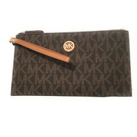 Michael Kors Fulton Leather Clutch Wristlet Wallet