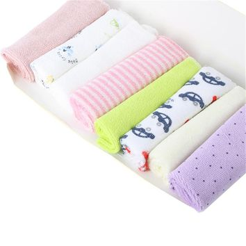 8 PCS/SET Baby Kids Soft Bath Washing Handkerchief Towels Multi Colors Cotton Washcloth Wipe Hand Face Cloth