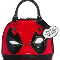 """Deadpool"" Mini Dome Bag by Loungefly x Marvel (Red/Black)"